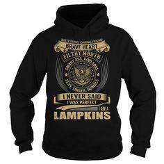 [Love Tshirt name printing] LAMPKINS Last Name Surname T-Shirt Discount 15% Hoodies, Tee Shirts