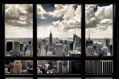 New York Window Poster $15
