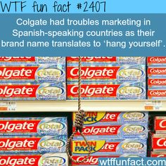 Colgate trouble Marketing in Spanish -WTF funfacts #learn #spanish #kids