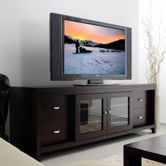 Abbyson Living Clarkston Solid Wood 72-inch TV Console | Overstock™ Shopping - Great Deals on Abbyson Living Entertainment Centers