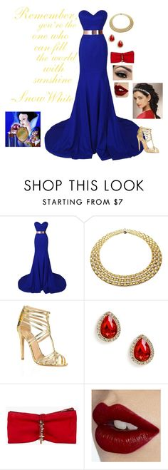 """""""Modern princess: Snow White"""" by rebecca41622 ❤ liked on Polyvore featuring Roberto Coin, Aquazzura, Dsquared2, Charlotte Tilbury, modern, disney, princess, Disneyprincess and disneycharacter"""