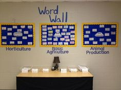 Semester word wall for the Ag classroom - Alcovy FFA. www.OneLessThing.net