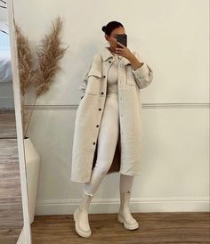 All White Outfit, White Outfits, Trendy Outfits, Girl Outfits, Fashion Outfits, Fashion Ideas, Brown Outfit, Look Fashion, Daily Fashion