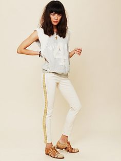 Embroidered Skinny Jean by Free People