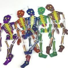 Cut Tin Dangling Skeletons, Day of the Dead