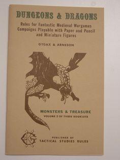 Dungeons & Dragons // Monsters & Treasure // Gygax & Arneson (1974)