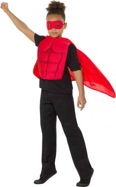 Kids Superhero Kit Red Fancy Dress, Superhero Fancy Dress, Red Media, Kit, Dress Up, Medium, Products, Fashion, Costume
