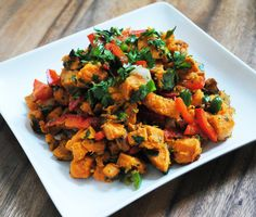 Ryan Bakes: Roasted Sweet Potato Salad with Red Bell Pepper