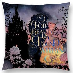 [New] The 10 All-Time Best Home Decor (Right Now) - Home Decor by Mary Corrales - Are there any Beauty and the Beast lovers out there? New pillow covers have arrived! Beauty And The Beast Wallpaper, Framed Art Prints, Canvas Prints, Empowering Quotes, Disney Quotes, Pillow Covers, Drawings, Illustration, Artwork