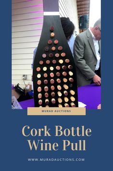 Each cork is numbered and corresponds with a bottle of wine so have guests pick one to win a bottle! Stag And Doe Games, Wine Pull, Spring Social, Church Fundraisers, Fundraising Activities, Roaring 20s Party, Barn Parties, Wine Gift Boxes, Wine Display