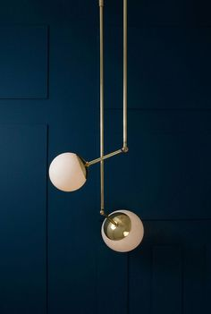 Lumiere by Paul Matter features lamps with rounded shades made from beaten brass /