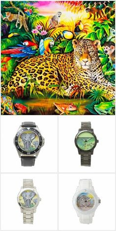 Women´s & Men´s Watches Collection #kompas #art# alanjporterart #products #animals #horses #watches #monkeys #orangutans #leopards #jaguars #indians #lions #polarbears #elephants #nature #tigers #sky #child #zebras #loveis #wolfs