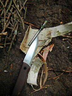 Tlim bushcraft knife, exotac firerod
