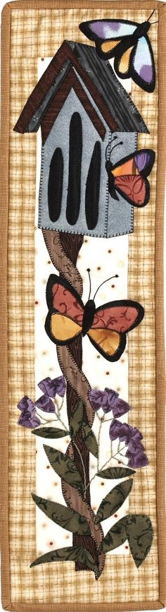 Butterfly Haven Pattern Butterflies Birdhouse Spring Quilt  Scrap Patch Abilities Fabric Quilt Sewing Pattern