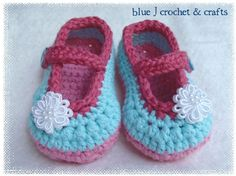 Crochet Pattern Plain Janes Mary Jane Style by bluejcrochet