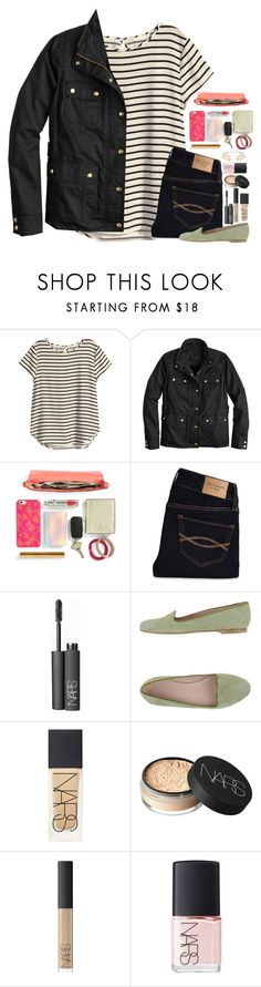 """""""I am so mad rn"""" by lmr14 ❤ liked on Polyvore featuring H&M, J.Crew, Kate Spade, Abercrombie & Fitch, NARS Cosmetics, Altiebassi and Kendra Scott"""