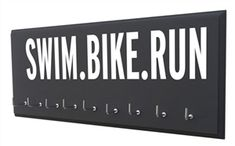 Triathlon medal holder - SWIM.BIKE.RUN - Starting at $24.99 - Choose your color and size.