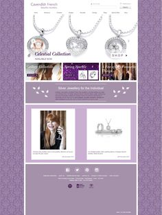 Cavendish French are a brand of high quality silver jewellery in the UK and abroad - desktop display