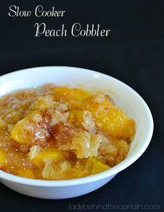 Company coming and you don't have time to bake, clean the house, fix dinner and run the kids around? Make this easy and delicious Slow Cooker Peach Cobble