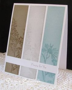 Sympathy card using versamark su