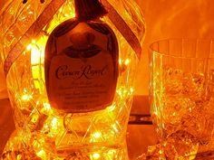 Crown Royal Light Up Liquor Bottle by FlameKissedCreations