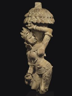 A buff sandstone figure of Salabhanjika India, Madhya Pradesh, Khajuraho, 11th century Southeast Asian Arts, Asian Sculptures, India Architecture, Stone Sculpture, Sculpture Art, Madhya Pradesh, Indian Temple, India Art, Shiva Shakti