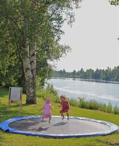 Underground trampoline for the kids