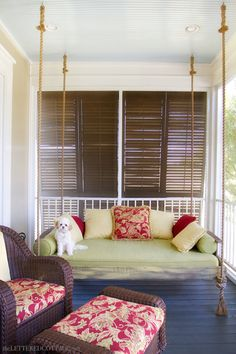 Porch Swinging Bed | The Lettered Cottage