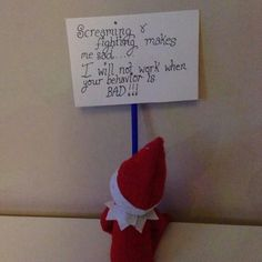 Cute little elf protest!