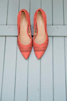 coral wedding shoes // eco-friendly wedding // Stella Uys  #dreamweddingbox @The Wedding Notebook