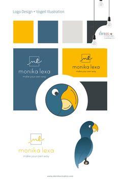 Logo Design für Klein- und Einzelunternehmer direkt aus einer Hand. Grafische Sternenschmiede Sternloscreative hilft dir bei deinem Logo Design. Web Design, Logo Design, Design Websites, Make Your Own, Make It Yourself, How To Make, Vogel Illustration, Flyer, Corporate Design