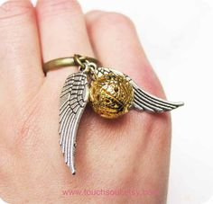 Golden snitch ring. $2