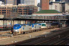RailPictures.Net Photo: AMTK 118 Amtrak GE P42DC at Seattle, Washington by Brian Kays