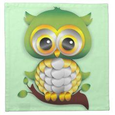 Baby Owl Paper Craft Design Napkin