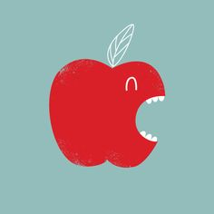 Day 13 | Apple  by Marco Angeles #illustration #fun