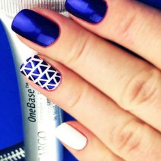"Nail Stencils design ""Love Triangle"" by Unail $5 #nails #nailart #naildesign #easynail #nailstencil #nailpattern"