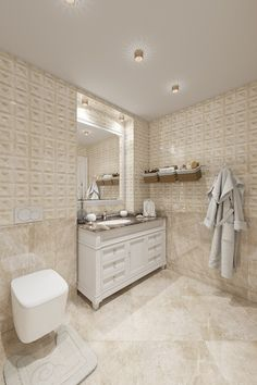 Ванная комната. Дизайн интерьера квартиры в классическом стиле, ЖК «Московский квартал», 80 кв.м.