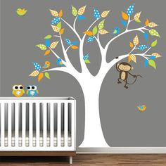 Children Jungle Wall Decals Vinyl wall decal Tree by Modernwalls, $99.00