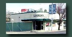 Laucks Bakery, Tower District, Fresno, Ca.  This was here for decades, superb bakery so busy you had to take a number to get waited on!  Employed a fleet of bakers.  The smell of fresh bread was pure heaven! Genuine 1930's inside and out, but much of the art deco design elements have been done away with by successive owners.