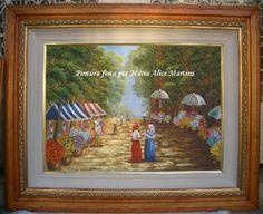 Pintura em tela - Mercado de flores (vendido)