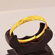 piscar de moda temperamento pulseira de ouro 24k das mulheres