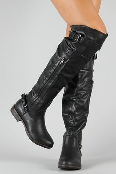 Bamboo Montage-03N Zipper Round Toe Riding Boot super cute!!