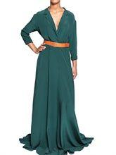 marlota silk crepe long wrap dress. $886