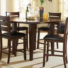 Shop for the Homelegance Ameillia Round Counter Height Drop Leaf Table at Hudson's Furniture - Your Tampa, St Petersburg, Orlando, Ormond Beach & Sarasota Florida Furniture & Mattress Store