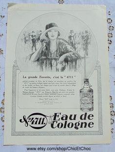Original 20er Jahre Französisch Advert 4711 Eau De von ChicEtChoc