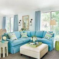 Lovely turquoise sofa