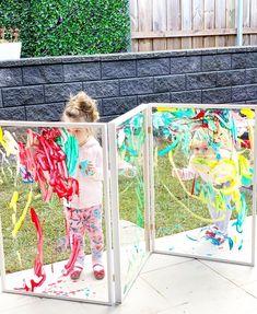 Kids Outdoor Play, Outdoor Play Spaces, Indoor Activities For Kids, Outdoor Learning, Outdoor Art, Outdoor Games, Summer Activities, Family Activities, Kids Art Easel