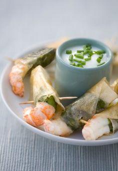 Receita de lagostins em massa folhada com manjericão - Massa folhada: receitas com massa folhada