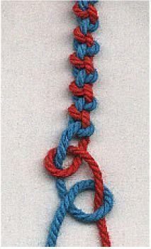 Alternating hitch knots #hand