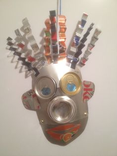 Was a great Saturday craft made from soda cans